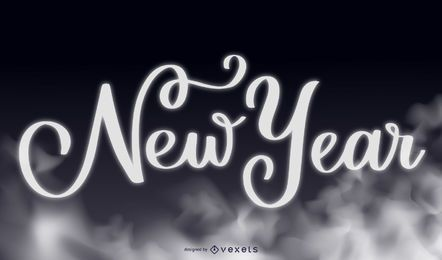 Smoky Typography New Year 2015 Background