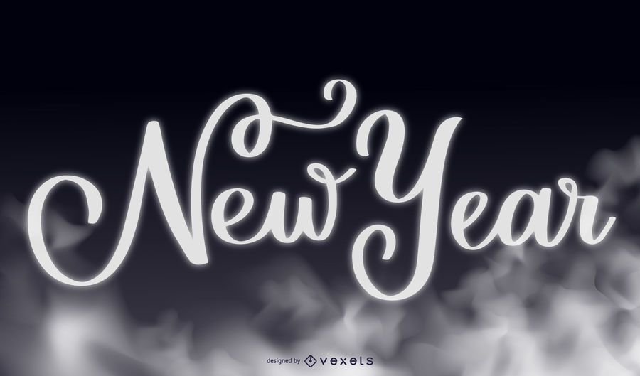Smoky Tipografia Ano Novo 2015 Fundo
