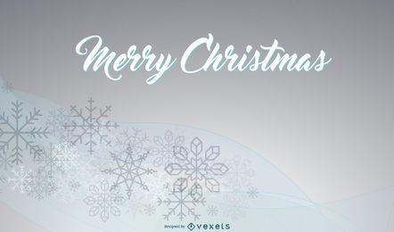 Fondo de Navidad con copos de nieve en curvas