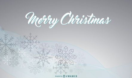 Xmas Background with Snowflakes on Curves