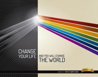 Escuridão luz cores mudança de vida