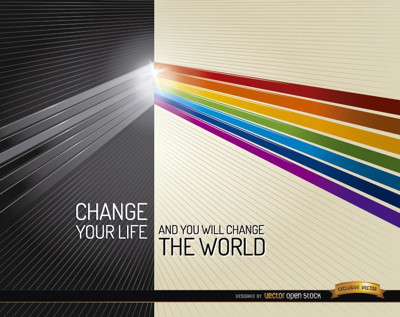 Darkness light colors life change