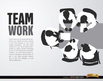 Fundo o trabalho em equipe cenital