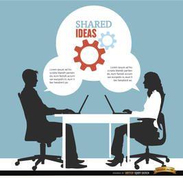 Männer Frauen Ideen Büro