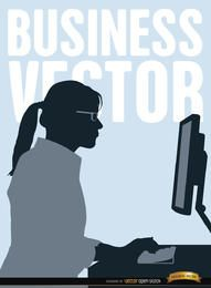 Executive Frau arbeiten Computer