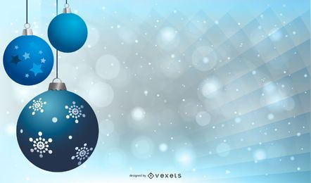 Adornos azules abstractos sobre fondo gris de Navidad