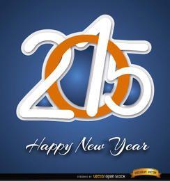 2015 dígitos de año nuevo