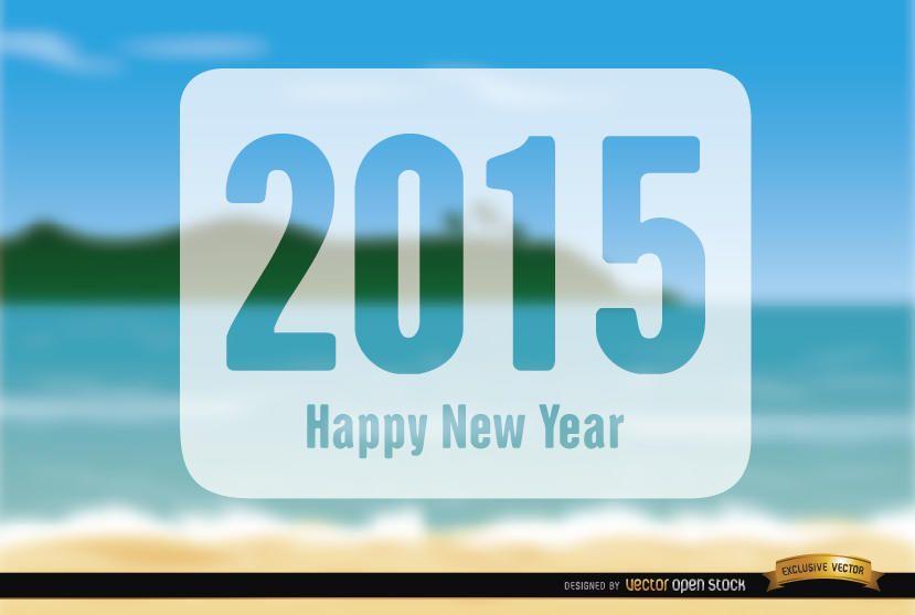 2015 New Year Holidays beach