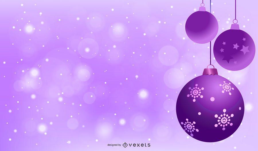Purple Christmas Balls Background Design