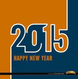 2015 Orange blue wallpaper