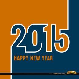 Orange blaue Tapete 2015