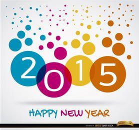 2015 Viele farbige Punkte