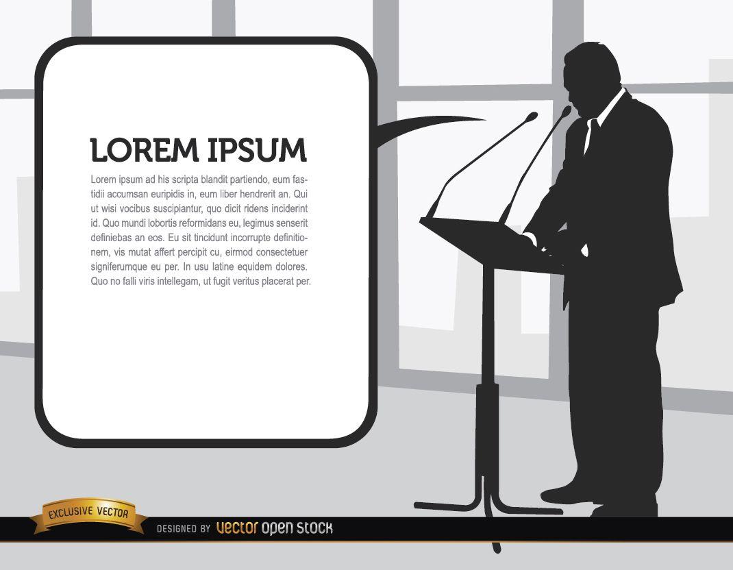 Businessman speech silhouette
