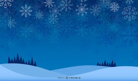 Glowing Snowflakes Background Design