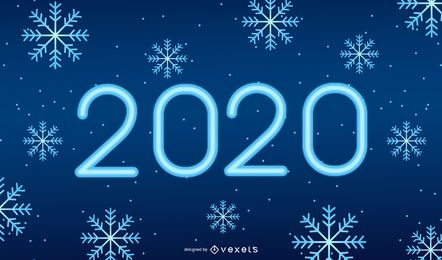 2020 Snowflakes Background Design