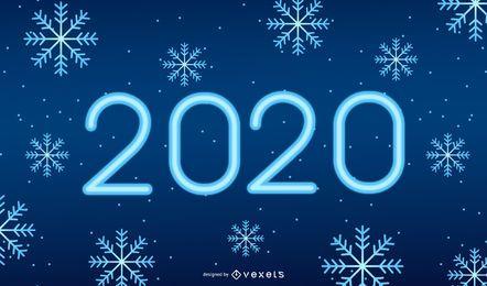 Diseño de fondo de copos de nieve 2020