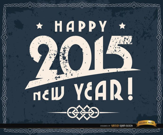 Happy 2015 grunge background