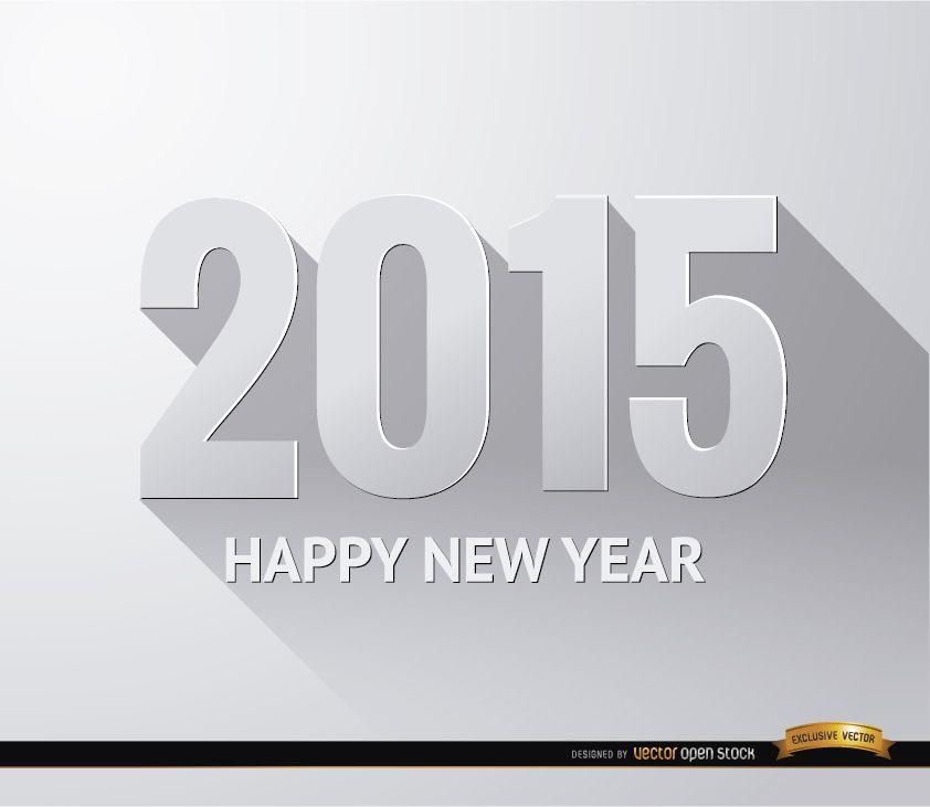 Fondo de pantalla degradado blanco año nuevo 2015