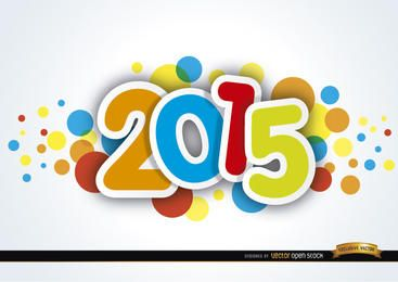 2015 año nuevo manchas de colores
