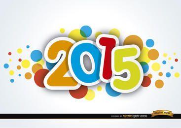 Manchas coloridas de ano novo de 2015