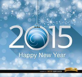2015 bolas penduradas brilham pontos