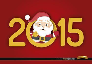 2015 número Santa dentro