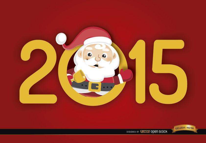 2015 número Santa adentro