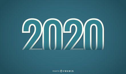 Letras de fonte dupla de 2020