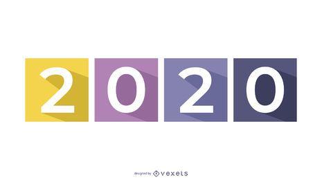 Lange Schatten 2015 über separaten farbigen Quadraten