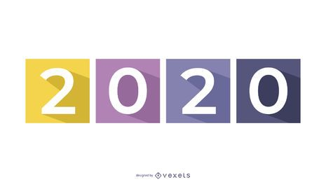 Larga sombra 2015 sobre cuadrados de colores separados
