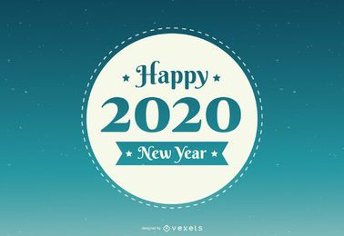 New Year 2020 Round Badge
