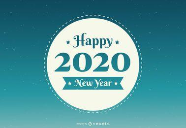 Rundes Abzeichen des neuen Jahres 2020