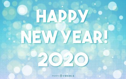 2015 New Year Greeting on Bokeh Background