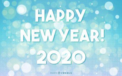 Saludo de año nuevo 2015 sobre fondo bokeh