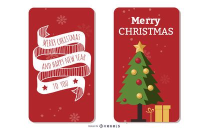 2 Beautiful Xmas Brochure Templates