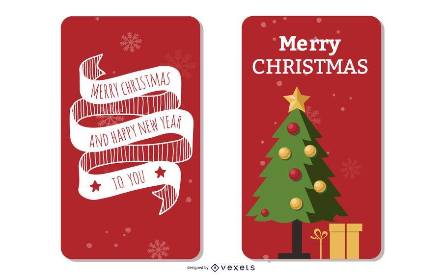 2 hermosas plantillas de folletos de navidad