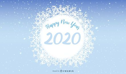 Snowflake Banner 2020 New Year