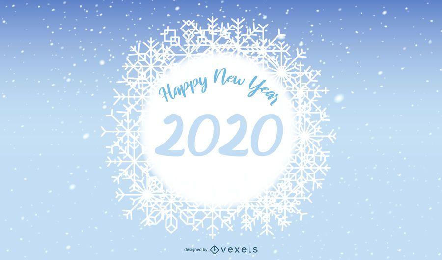 Bandeira de floco de neve de ano novo de 2020