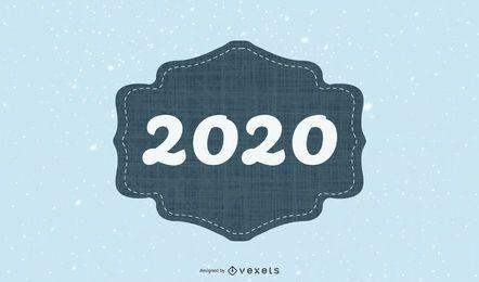 Tarjeta simple 2020 de la vendimia
