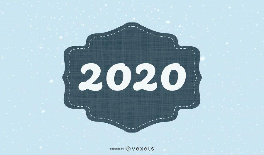 Cartão Simples Vintage 2020