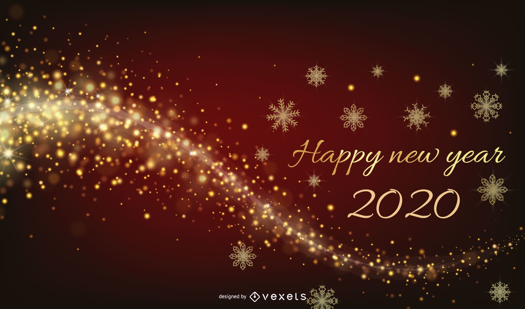 New Year 2015 Glowing Background