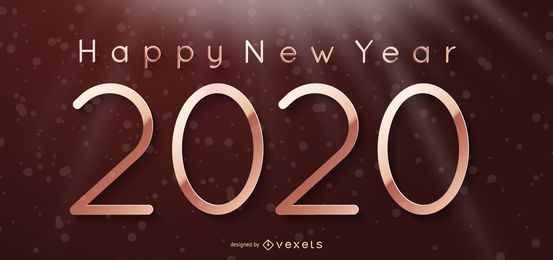 Fundo de ano novo de 2020 na cortina de iluminação