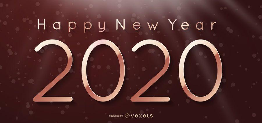 2020 New Year Background on Lightening Curtain