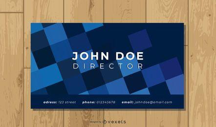 Plantilla de tarjeta de visita de diseño poligonal colorido