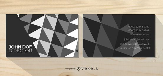 Black & White Abstract Background Business Card