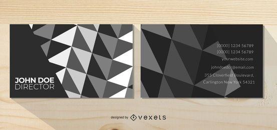 Tarjeta de visita abstracta en blanco y negro
