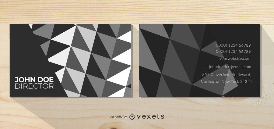 Tarjeta de visita abstracta negra y blanca del fondo