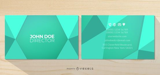 Front Back Abstract Triangles Business Card