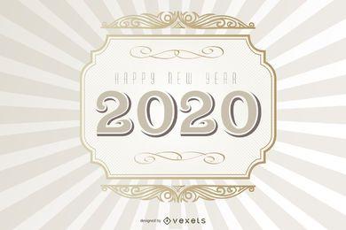 2020 Typografie Vintage Hintergrund