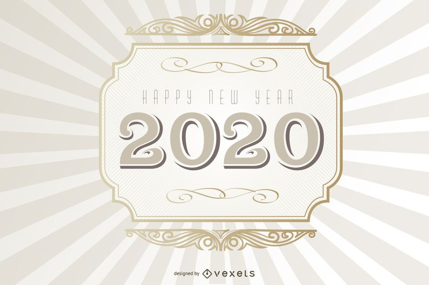 2020 Typography Vintage Background